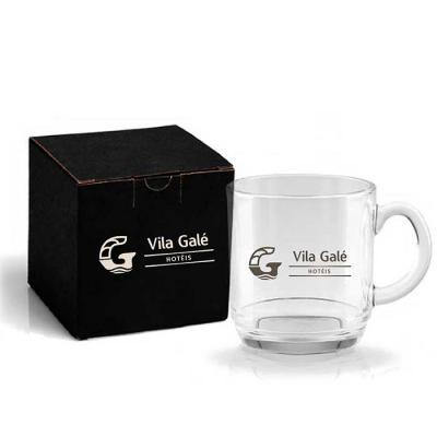 YepUp  Presentes Criativos - Caneca em vidro capacidade 300ml. Ideal para café e/ou capuccino.  Acompanha embalagem*  Cor da embalagem e Personalização da embalagem opcional.