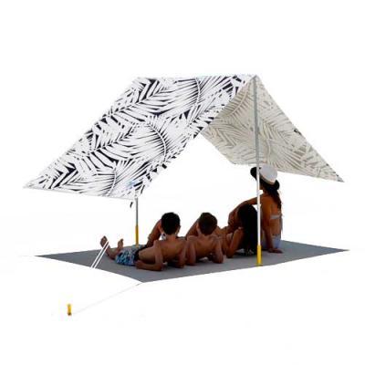 YepUp Presentes Criativos - Tenda para praia ou camping, confeccionada em bagum. Acompanha mochila para transportar, prendedores laterais e corda.  Totalmente personalizável com...
