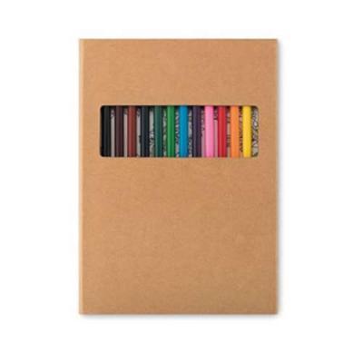 YepUp Presentes Criativos - Kit criatividade: Estojo com 12 lápis e 30 Desenhos.