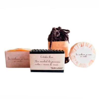 YepUp Presentes Criativos - Kit Saboaria natura com 3 tipos de sabonetes