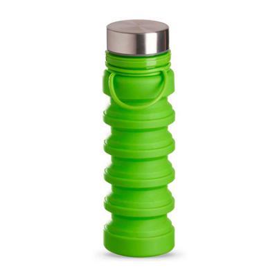 YepUp Presentes Criativos - Squeeze retrátil personalizado em silicone, com tampa em metal. Capacidade: 500ml.