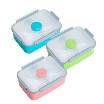 Abra Promocional - Marmita plástica com divisão de compartimentos. Possui tampa plástica transparente; recipiente com tampa colorida para temperos; tampa branca superior...