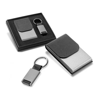 Abra Promocional - Kit porta cartões e chaveiro executivo