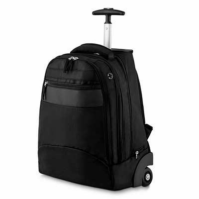 Abra Promocional - Mochila Executiva com Rodinha  Tecido Nylon Polyester 1.600 com detalhe em Sintético  1 bolso frontal 2 Compartimentos 1 bolsos interno 1 Porta Notebo...