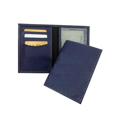 Abra Promocional - Porta dut em sintético ou couro com 1 (uma) divisão plástica e 3 (três) divisões para cartões.  Dimensões: 12 x 18 cm (aberto) 12 x 8,5 cm (fechado)...