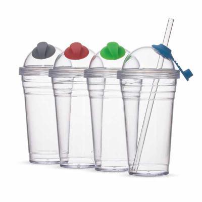 M&ZLume Brindes - Copo plástico com canudo