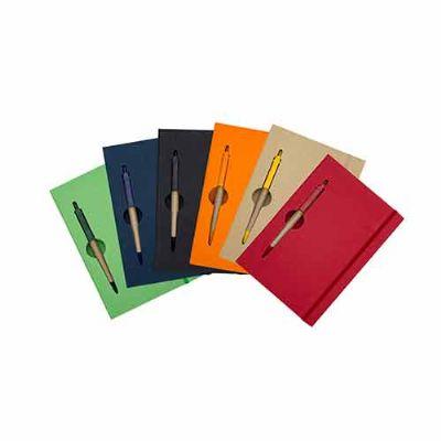Mexerica Brindes - Bloco de anotações com caneta