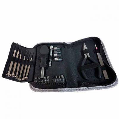 Mexerica Brindes - Kit ferramentas com estojo. Compacto para levar para todos os lugares necessários. Essencial para viagens e para se ter em casa para emergencias.