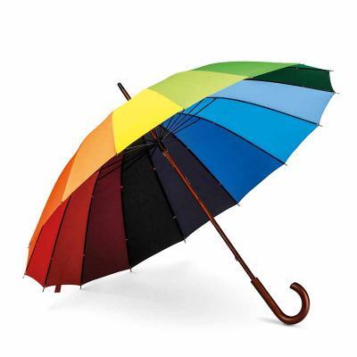 Mexerica Brindes - Guarda-chuva. 190T pongee. Pega em madeira. ø1020 x 875 mm