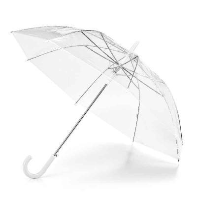 Mexerica Brindes - Guarda-chuva transparente em POE e abertura automática. Dimensões: ø1000 mm   815 mm