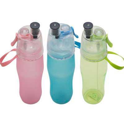 Mexerica Brindes - Squeeze plástico com borrifador