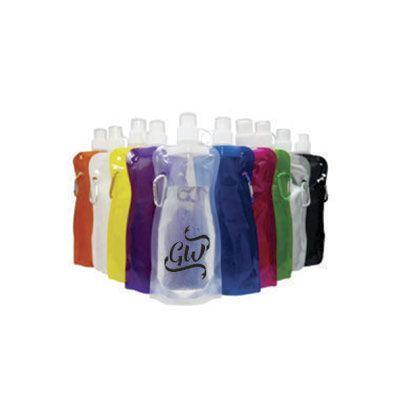 GiftWay - Squeeze dobrável de plástico de 480 ml com mosquetão..