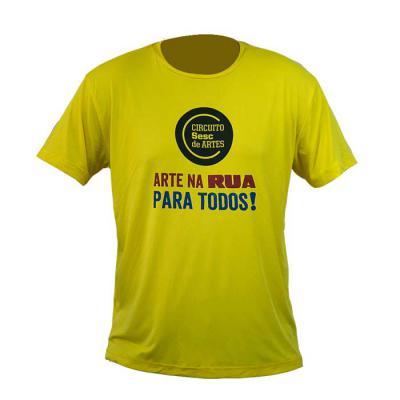 SP Uniformes - Camiseta gola redonda, material dry e silk.