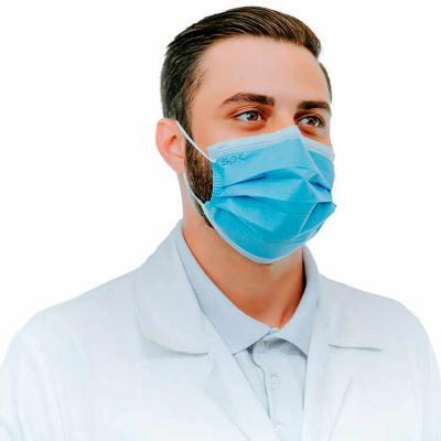 SP Uniformes - Máscara Cirúrgica Descartável Azul - FOTO FRENTE