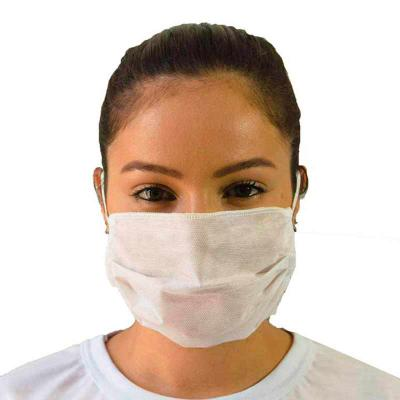 SP Uniformes - Máscara Facial de TNT Respiratória Descartável com elástico protege contra gotícula de saliva, bactérias, poeira entre outros malefícios que estão pre...