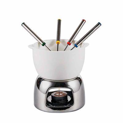 A & T Brindes Promocionais - Kit Fondue em Porcelana Personalizado