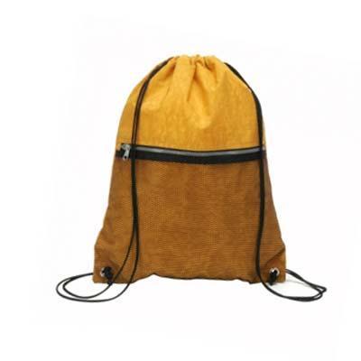 A & T Brindes Promocionais - Mochila saco confeccionado em nylon 710 com zipper