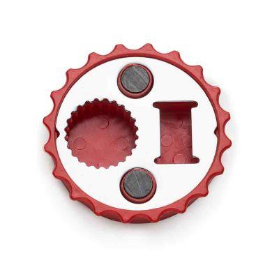 J.E Brindes - Abridor de garrafa formato tampa