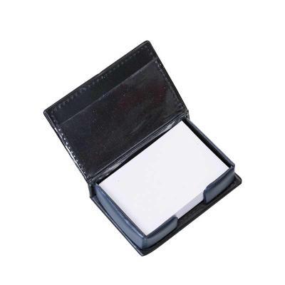 j-e-brindes - Bloco de anotações de couro sintético com detalhe na capa, parte interna com bolso plástico e bloco de folhas brancas com aproximadamente 145 folhas....