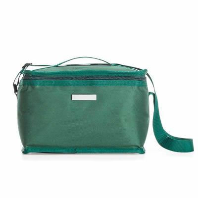 J.E Brindes - Bolsa térmica 8 litros em nylon com bolso traseiro externo de malha, duas alças para mãos, sendo uma delas ajustável.Parte interna com revestimento té...