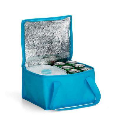 J.E Brindes - Bolsa térmica 10 litros em TNT com alça para mãos, revestimento interno de manta térmica.  Medidas aproximadas para gravação (CxL): 8,5 cm x 27 cm  Ta...