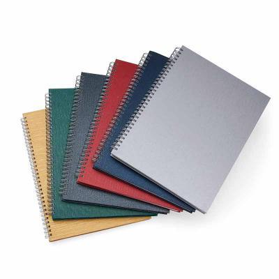 548948f85 J.E Brindes - Caderno grande com pintura texturizada e wire-o prata. Possui