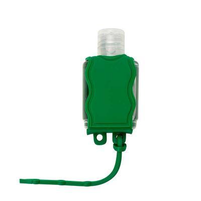 J.E Brindes - Chaveiro porta álcool gel, material emborrachado com capacidade para frasco de 35ml. Altura :  6,5 cm Largura :  3,7 cm  Medidas aproximadas para grav...