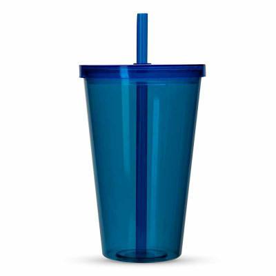 J.E Brindes - Copo Plástico 1 Litro com Tampa