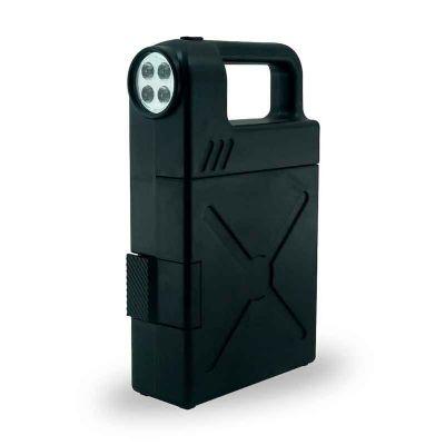 J.E Brindes - Kit ferramenta plástico com 24 peças e lanterna. Material plástico com alça, possui botão superior para ligar/desligar lanterna, trava de segurança, p...