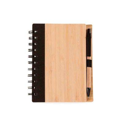 j-e-brindes - Bloco de Anotações Bambu com Caneta