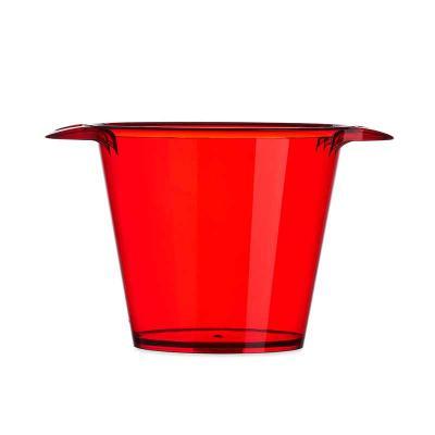 J.E Brindes - Balde de gelo em acrílico colorido com capacidade de 4 litros com alças laterais. Possui uma única versão leitosa, cor branca.Medidas aproximadas para...