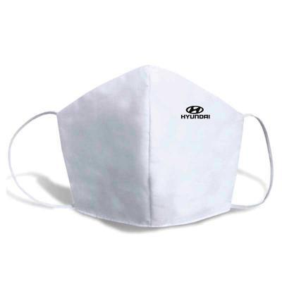 J.E Brindes - Máscaras de Proteção Dupla de Tecido 100% Algodão 180 fios  Lavável. Reutilizável com Elástico.