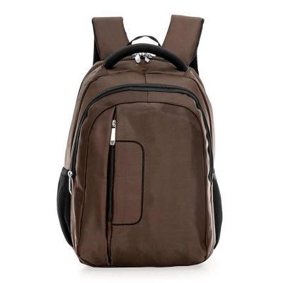 J.E Brindes - Mochila de poliéster com compartimento principal com bolso para notebook 14 polegadas, compartimento mediano com bolso para documento e canetas, compa...