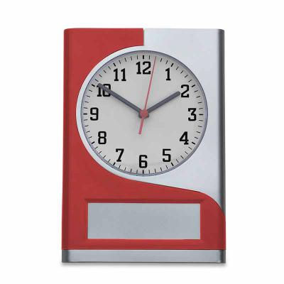 J.E Brindes - Relógio de parede plástico com detalhe colorido, funcionamento através de uma pilha AA(não acompanha) e ajuste manual através da engrenagem no verso d...