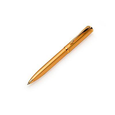 J.E Brindes - Caneta metal dourada.