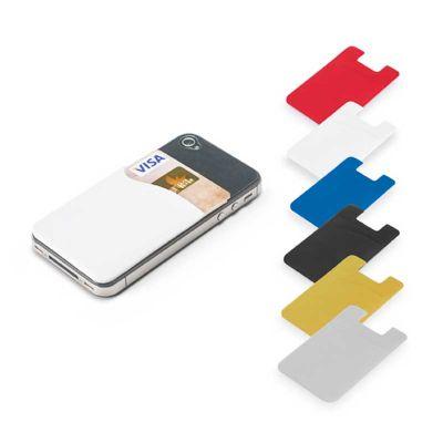 J.E Brindes - Porta cartões para smartphone em PVC, com autocolante. 56 x 89 x 1 mm