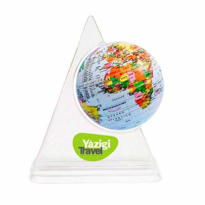 gj-brindes - Cofrinho globo terrestre giratório personalizável