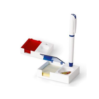 GJ Brindes - Base para mesa de escritório com bloco e caneta