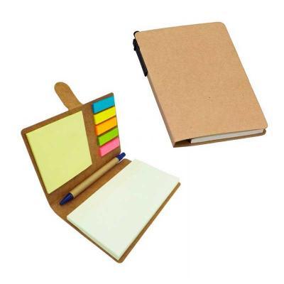 GJ Brindes - Bloco de anotações com sticky notes e caneta