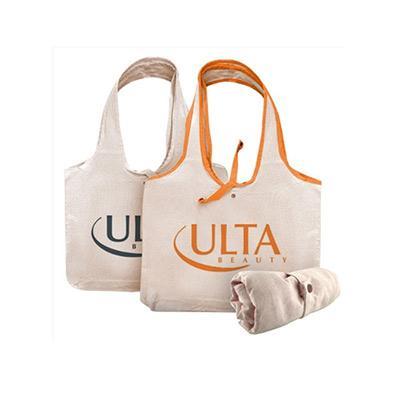 Tompromo Bags - Ecobag dobrável, É feita em algodão crú, personalização impressão digital.