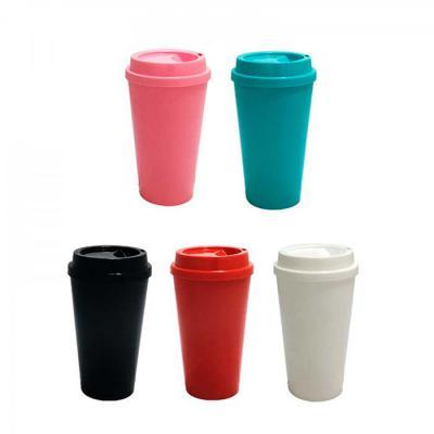 NewSilk - Copo Café Capacidade: 400ml ou 550ml Fabricado em polipropileno PP Produto em plástico não descartável Alta durabilidade Cores: Preto - Branco - Verme...