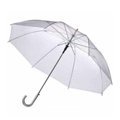 NewSilk - Guarda chuva transparente personalizado Importado Varão de metal Medida: Ø1,40m