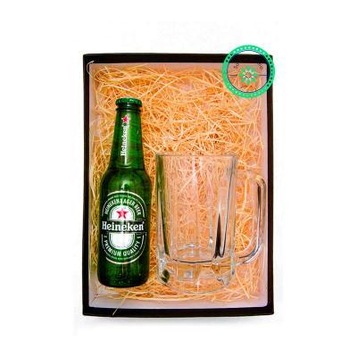 K3 Brindes - Kit Cerveja com 1 caneca de chopp e uma Cerveja Heineken 250 ml, embalado em caixa de papel duplex com gravação na tampa da caixa.  Opções de Cerveja:...