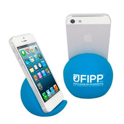 brinde-show - Apoio para Smartphone vinil (Policloreto de Vinil) oca Personalizado. Medida: 6,5cm A x 7,5cm L