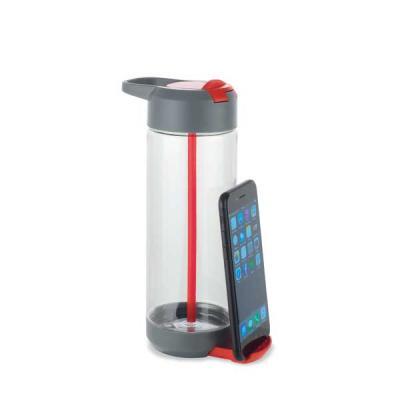 Spaceluz Brindes - Squeeze com suporte para celular