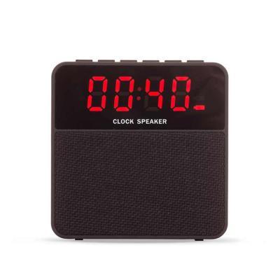 Spaceluz Brindes - Caixa de som bluetooth multifunções com relógio digital