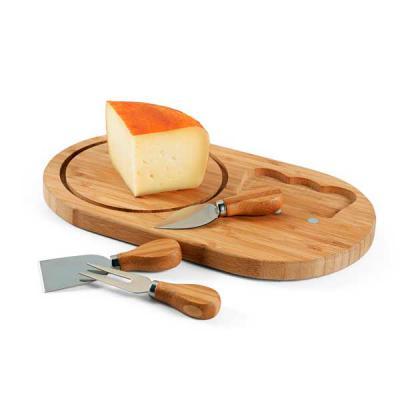 Spaceluz Brindes - Tábua de queijos Bambu