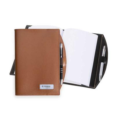 Spaceluz Brindes - Bloco de anotações com plaquinha e caneta plástica