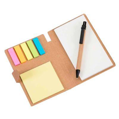 Inmark Brindes - Bloco de anotações ecológico com caneta e sticky notes