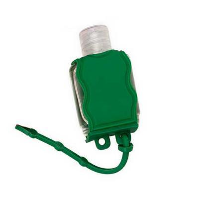 Inmark Brindes - Chaveiro porta álcool gel, material emborrachado com capacidade para frasco de 35ml. Medidas: Altura: 6,5 cm / Largura: 3,7 cm Personalização: sil...